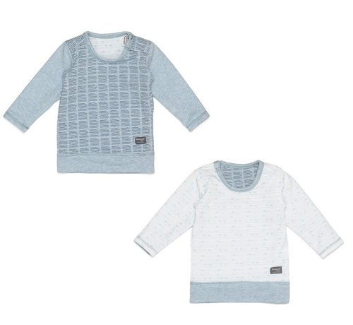 Snoozebaby Snoozebaby T-shirt LS Fading Blue Reversible