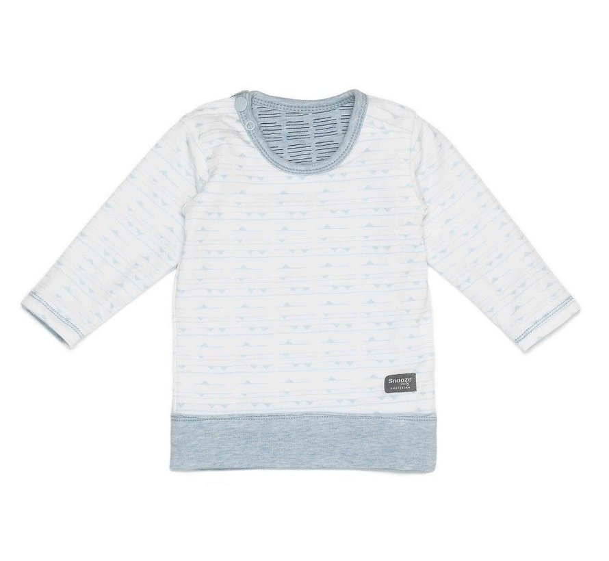 Snoozebaby T-shirt LS Fading Blue Reversible