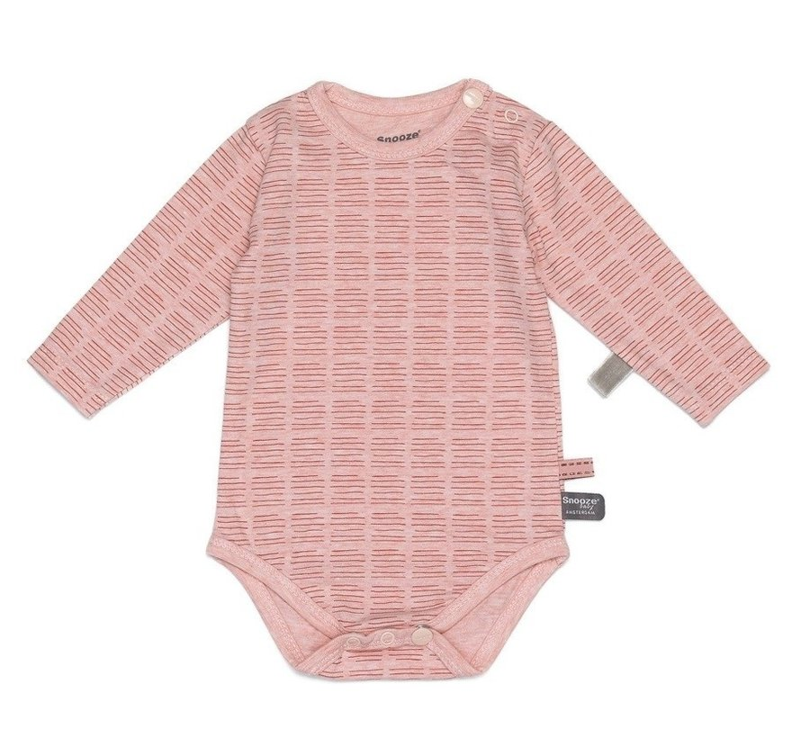 Snoozebaby Romper Hand Stripe Poppy Red LS