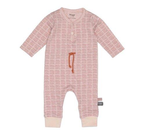 Snoozebaby Snoozebaby Suit LS Hand Stripe Poppy Red