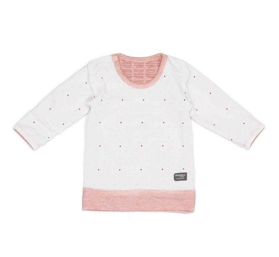 Snoozebaby T-shirt LS Light Pink Reversible