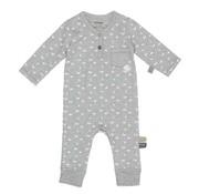 Snoozebaby Snoozebaby Suit LS Birds Light Grey