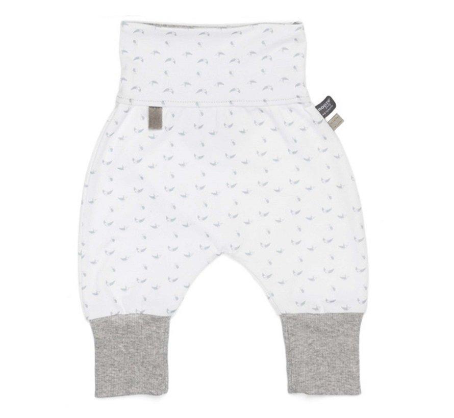 Snoozebaby Baggy Pants Birds Light Grey