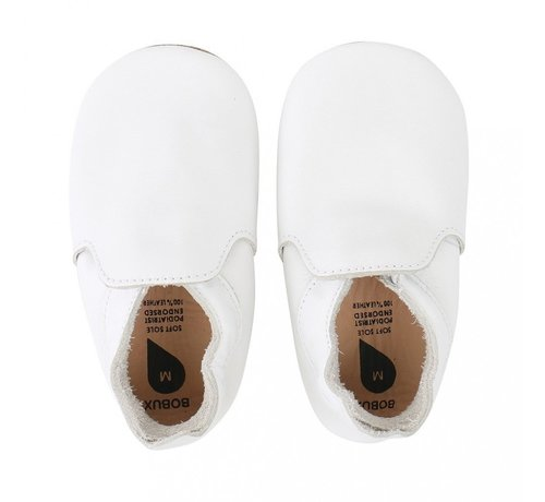 Bobux Bobux Soft Sole babyslofjes | White Loafer 4406