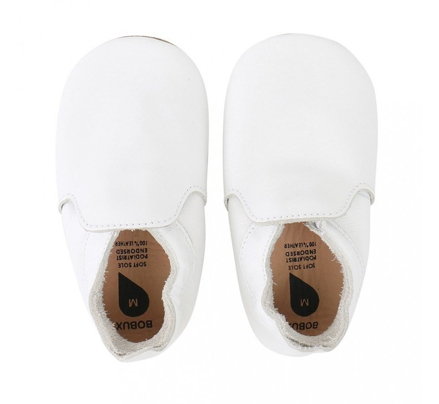 Bobux Soft Sole babyslofjes | White Loafer 4406