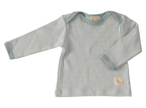 Pigeon Organics Pigeon Organics | T-shirt dunne Streep Turquoise
