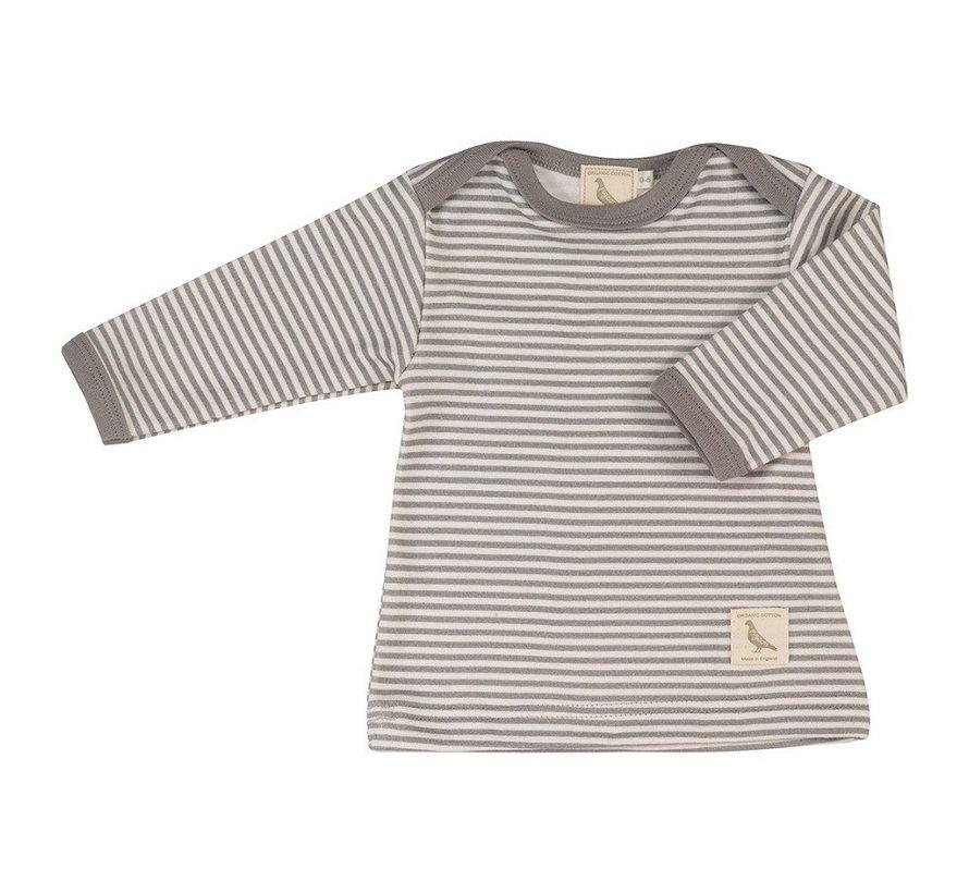 Pigeon Organics | T-shirt dunne Streep Grijs