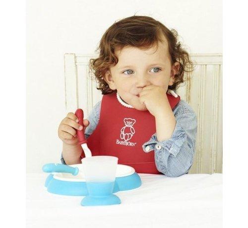 BabyBjorn BabyBjorn Lepel en vork set Roze/Lila 4 stuk