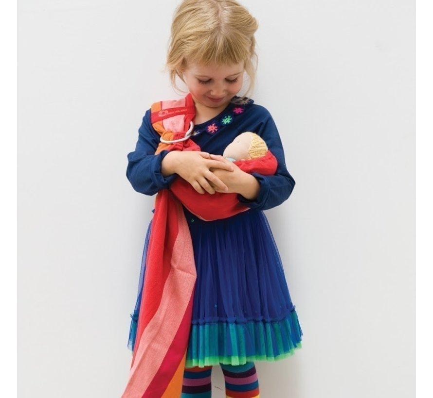 Speelgoed draagdoek voor poppen BB-Sling papaya