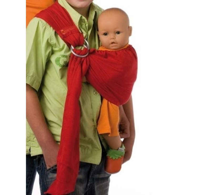 Speelgoed draagdoek voor poppen BB-sling currant red