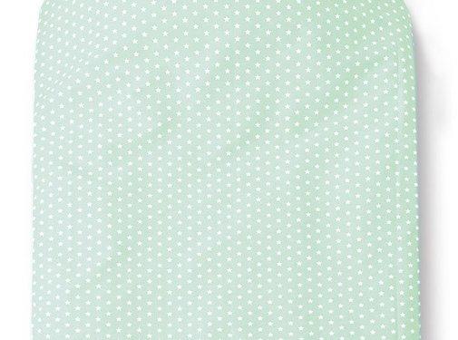 Cottonbaby Cottonbaby Dekenhoes Sterretjes Mint