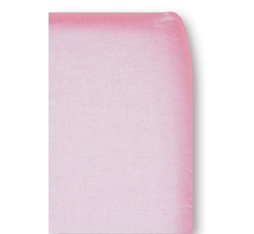 Cottonbaby Hoeslaken Wieg Chambray Roze