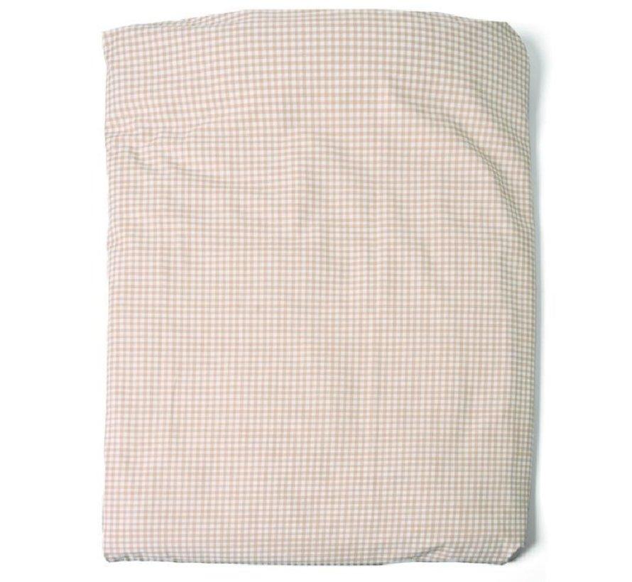 Cottonbaby Dekenhoes Ruit Taupe