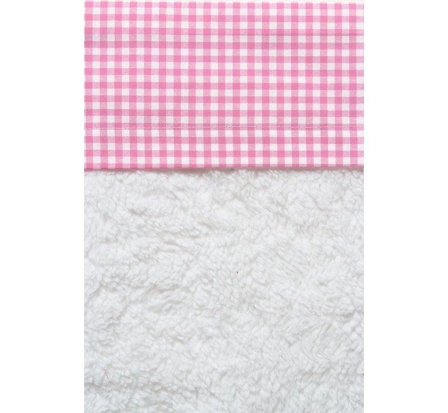 Cottonbaby Wieglaken Ruit Roze