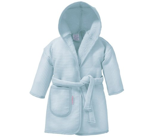 Cottonbaby Cottonbaby badjas wafelstof Lichtblauw | baby badjas
