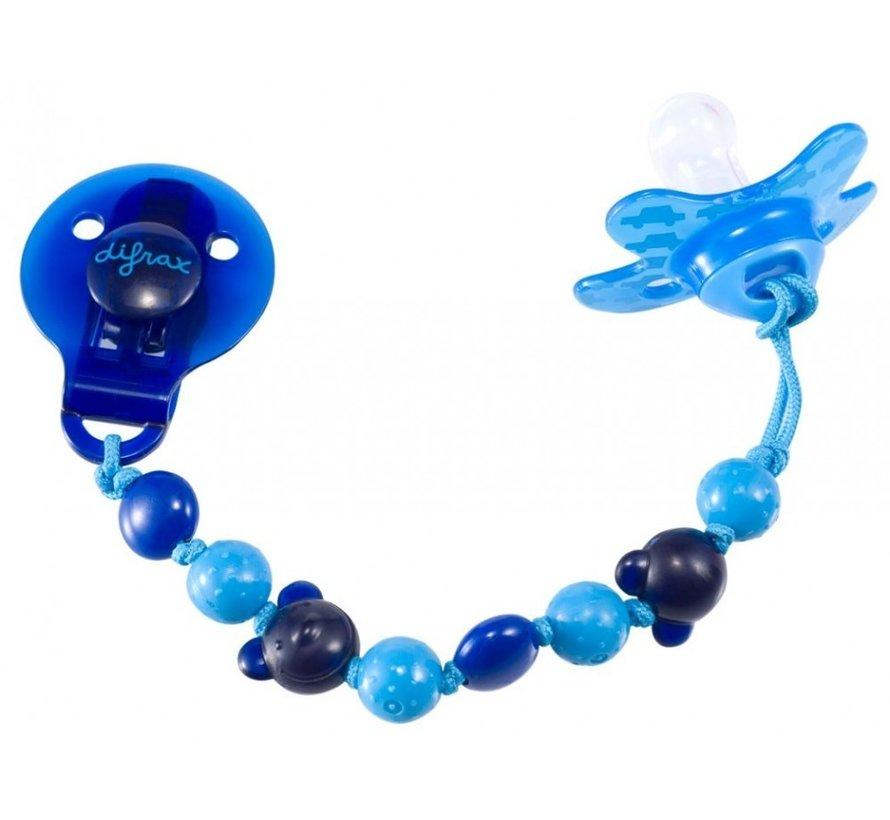 Difrax Kralen fopspeenkoord - Blauw