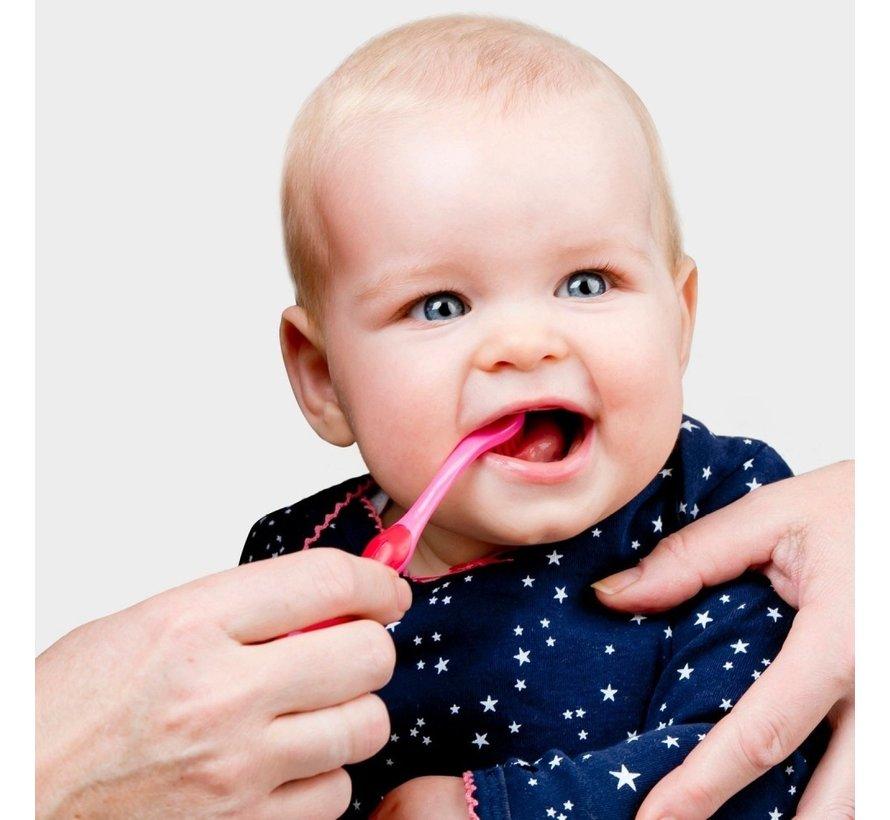 Difrax Tandenborstel 2-4 jaar Roze