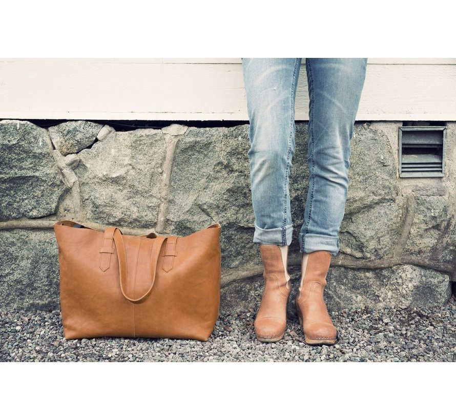 Elodie Details Chestnut Leather Luiertas