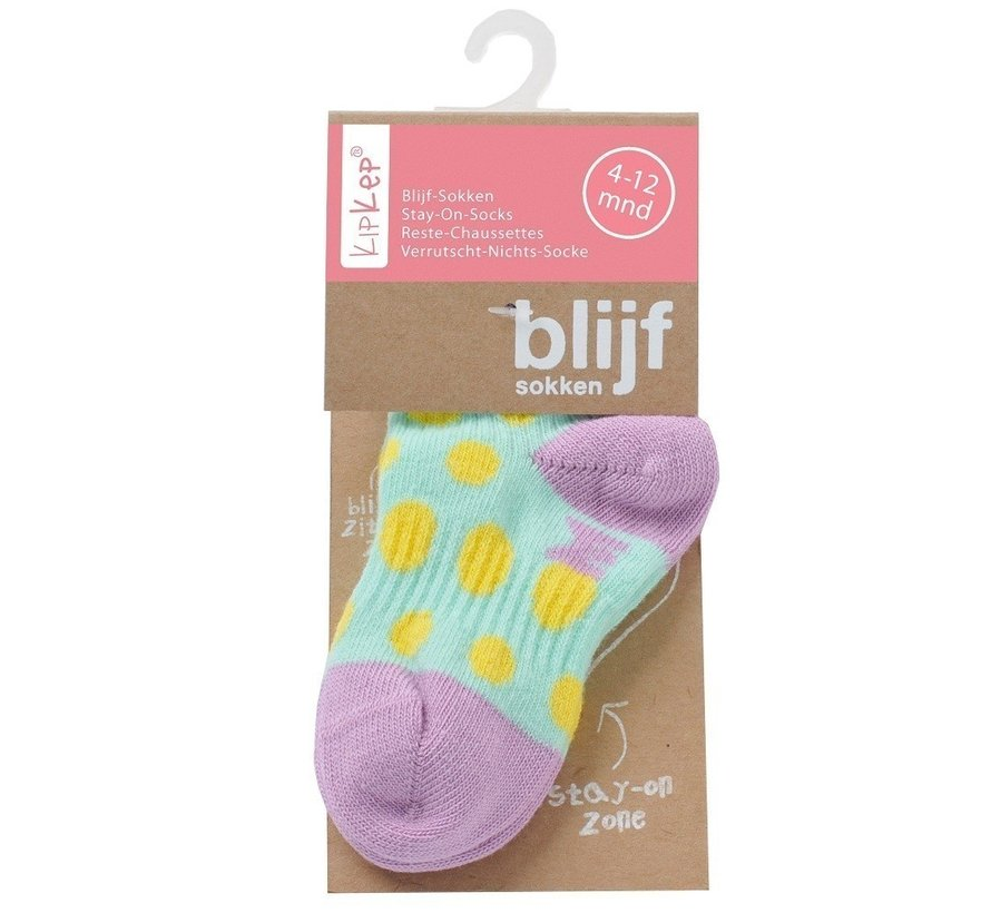 KipKep babysokjes | Blijf-Sokjes Lila Stip