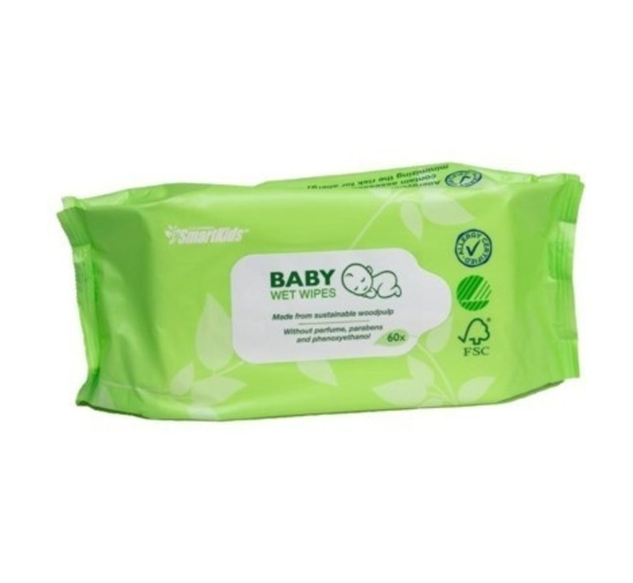 Smartkids - Vochtige baby doekjes eco (60 stuks)