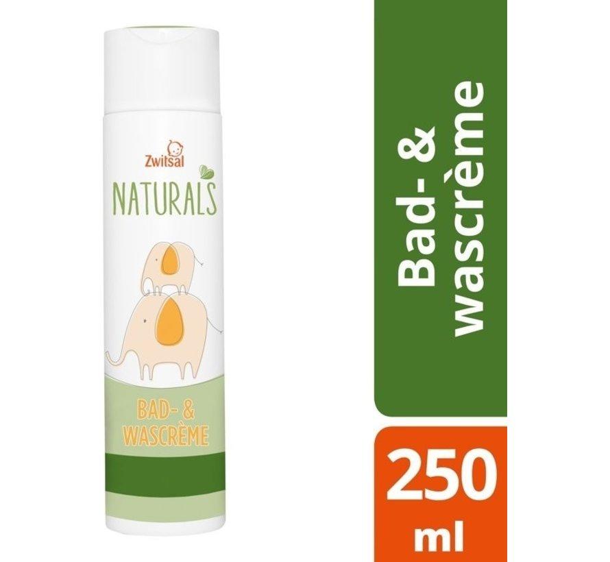 Zwitsal - Naturals bad & wascreme - 250ml