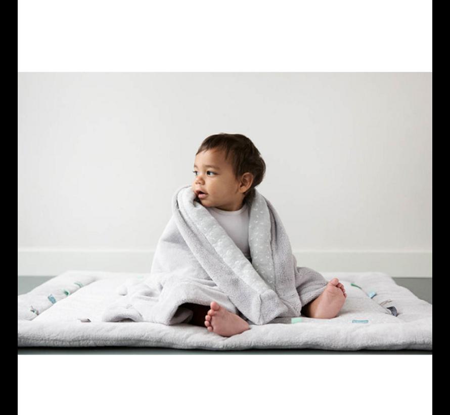 Snoozebaby Wieg- en Ledikant deken   Lovely Grey