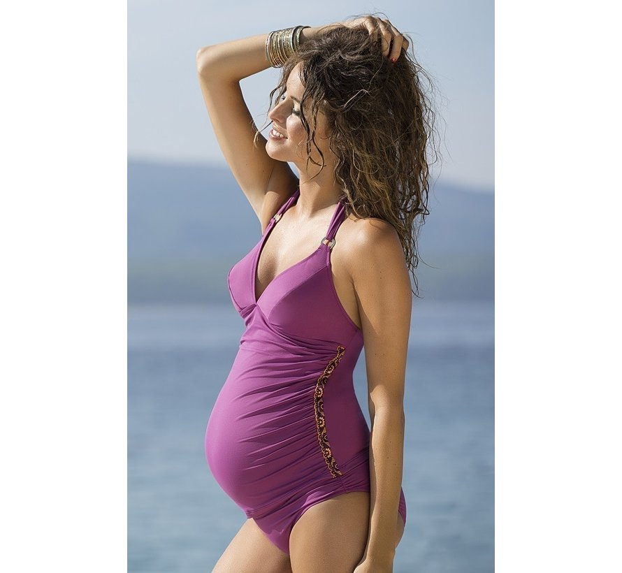 Cache Coeur Zwangerschap Tankini Brasilia Prune