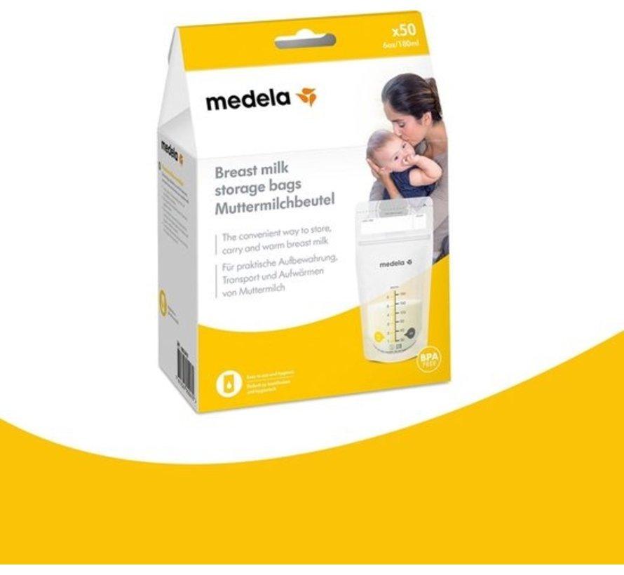Medela Moedermelk bewaarzakjes 180ml | 25 of 50 stuks