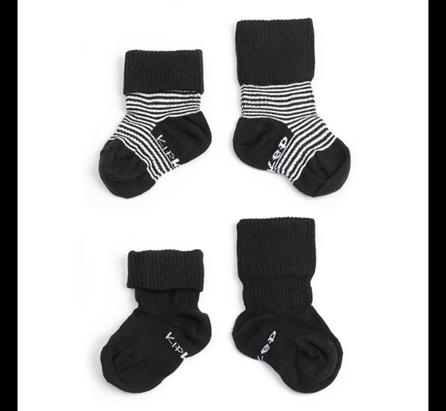 Kipkep Blijf Sokken (2-paar) | 0-6 maanden