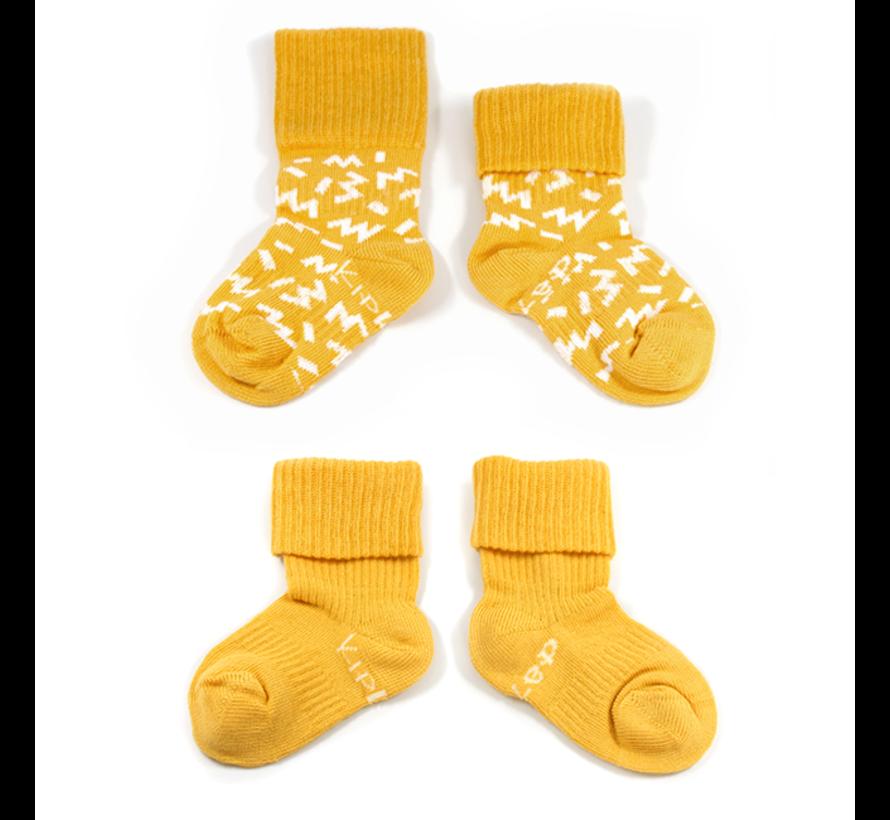 Kipkep Blijf Sokken (2-paar) | 6-12 maanden