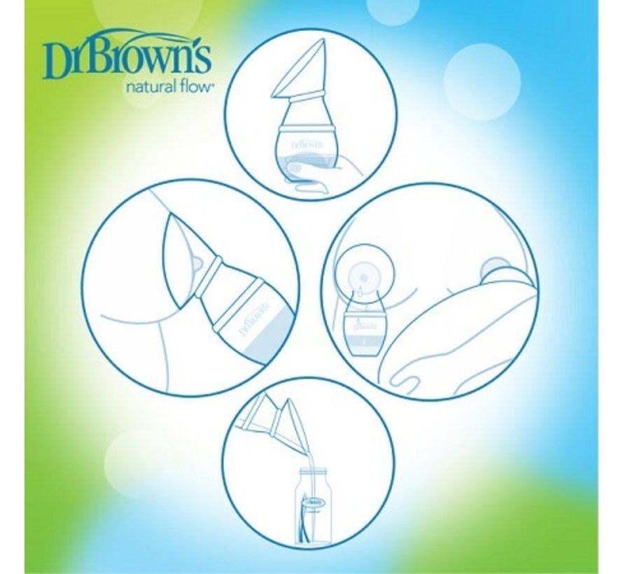 Dr Brown's Milkflow One-Piece Siliconen Borstkolf