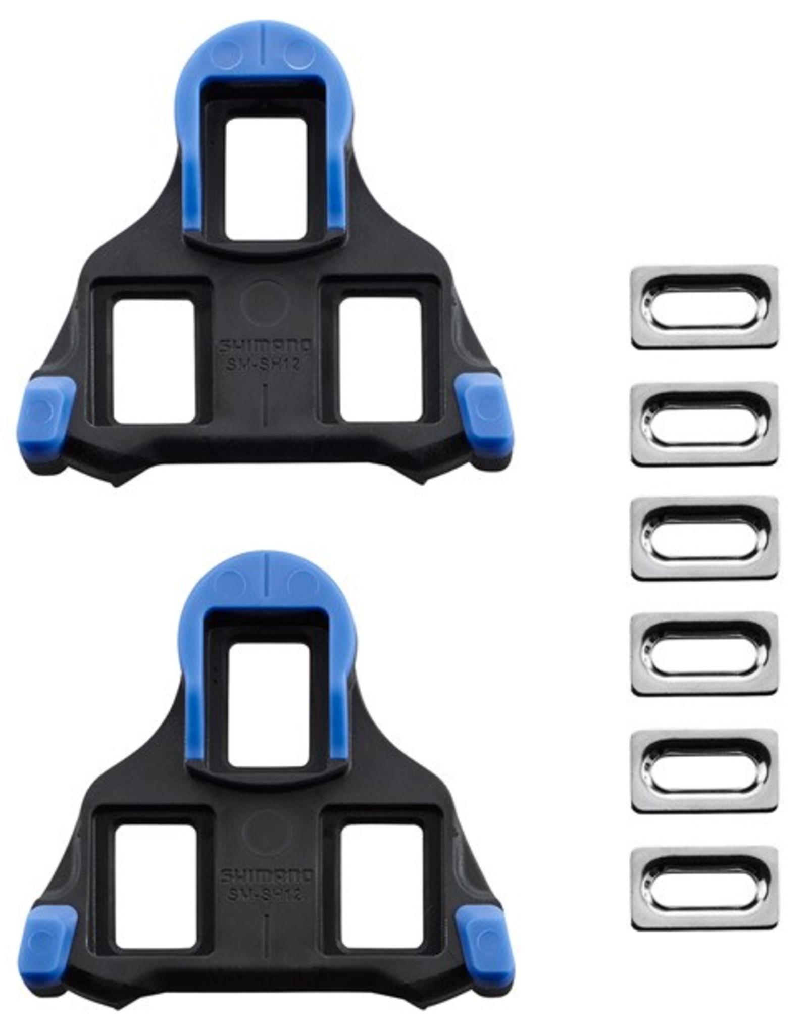 Shimano Shimano SH12 SPD SL-Cleats , Front Pivot Floating , Blue