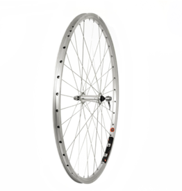 Raleigh 700C Front Trekking Wheel in silver, suitable for most trekking/hybrid bikes.