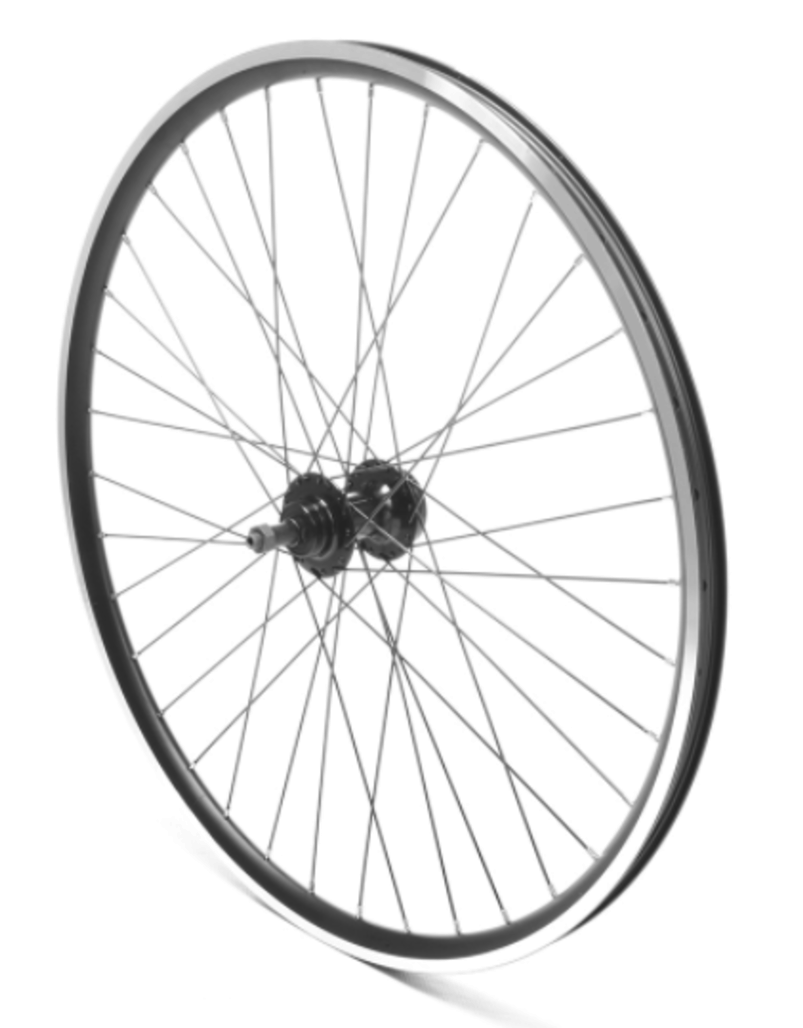 "Oxford Oxford Rear Wheel 26"" MTB Black Double wall Nutted (silver)"