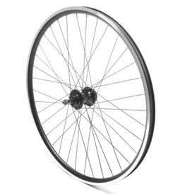 "Oxford Oxford Rear Wheel 26"" MTB Black Double wall Nutted (silver)"