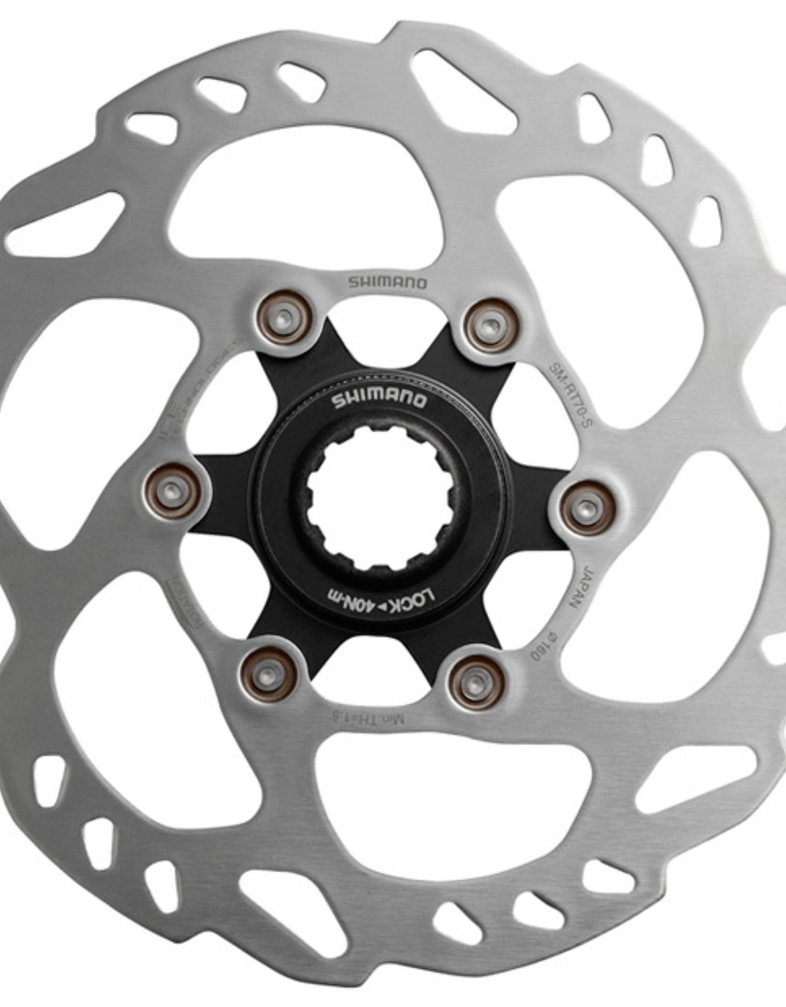 Shimano Shimano RT70 Ice Tech Centre-Lock disc rotor, 160 mm