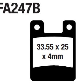 EBC EBC Disc Brake Pads - FA247B Organic (Hope)