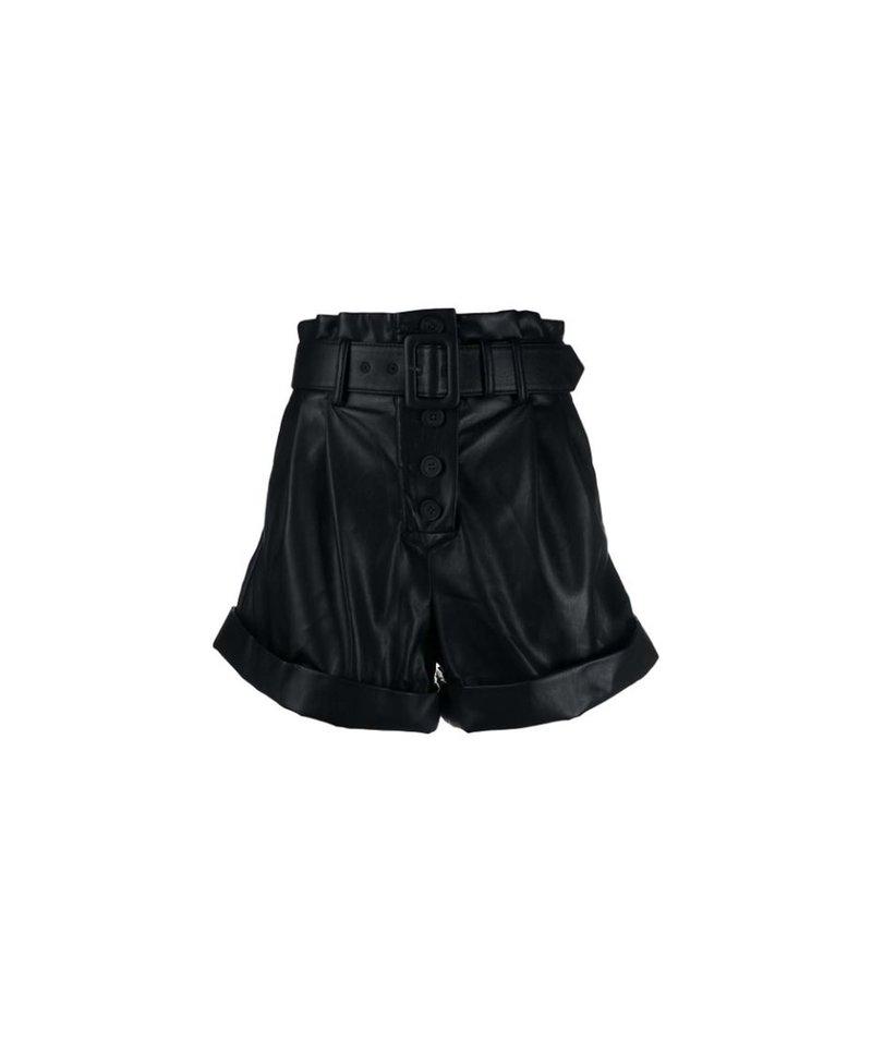 Self Portrait faux leather shorts