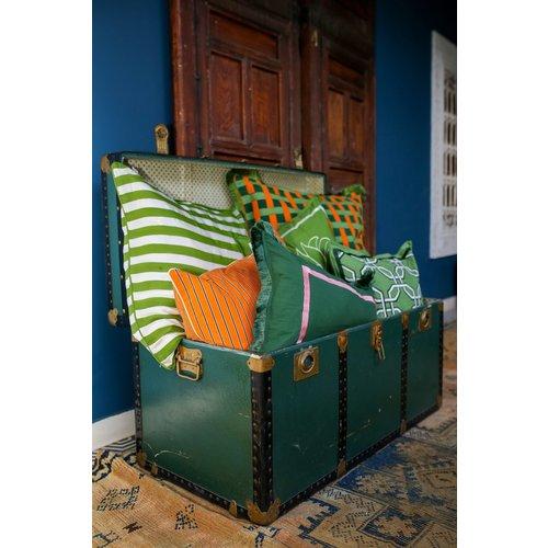 Cushion Grace Donkergroen
