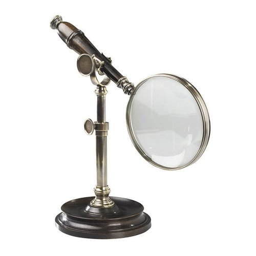 Authentic Models Magnifying Glass With Stand Bronzed