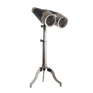 Authentic Models Victorian Binoculars with Tripod Silver