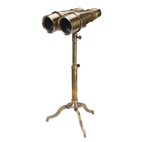 Authentic Models Victorian Binoculars with Tripod  Bronze
