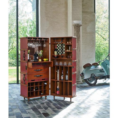Authentic Models Stateroom Bar- Burgundy