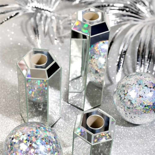 Small Mirror Candle Holder set of 2