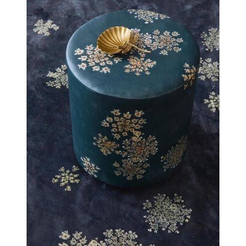 Poef Astoria Indigo blauw