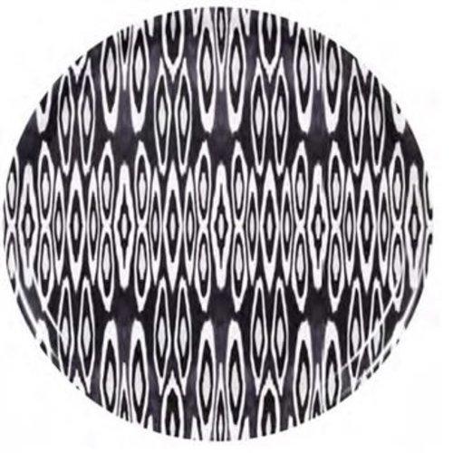 Coco Ikat Long Black Birch Wood Tray