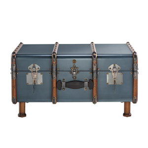 Authentic Models Stateroom Trunk Table, Petrol