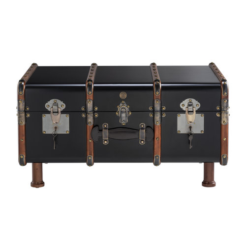 Authentic Models Stateroom Trunk Table, Black