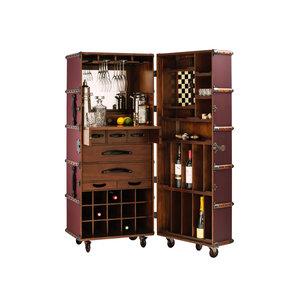 Authentic Models Stateroom Bar, Burgundy