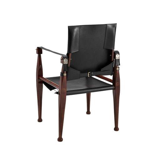 Authentic Models Bridle Leather Campaign Chair - Black